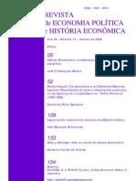 História Econômica. Considerações sobre um campo disciplinar