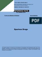 Spurious Drugs