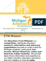 Presentations_September 8 2015_Michigan Achieves SBE Briefing