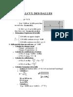 Calcul Des Dalles