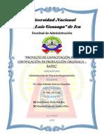 Proyecto de Capacitación Para Certificación Orgánica