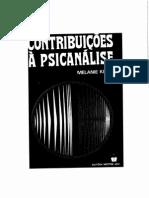 Contribuições à Psicanálise Melanie Klein