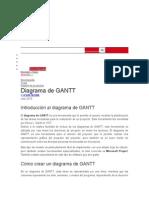 Análisis Diagrama de Gantt