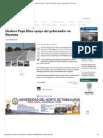 09-07-2015 Destaca Pepe Elías Apoyo Del Gobernador En