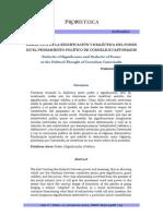 DIALÉCTICA DE LA SIGNIFICACIÓN Y DIALÉCTICA DEL PODER EN EL PENSAMIENTO POLÍTICO DE CORNELIUS CASTORIADIS