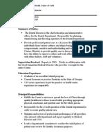 GSC Job Description Dental Director 2015