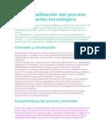 Conceptualización del proceso de innovación tecnológica