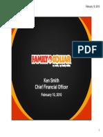 FDO Family Dollar Feb 2010 Presentation