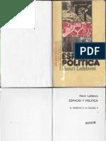 Lefebvre Henri - Espacio Y Politica