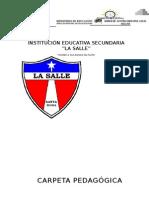 I PARTE Carpeta Pedagogica. 2015