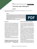 Management of Nasofrontal Angle in Rhinoplasty