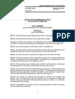 Codigo de Procedimientos Civiles Del Estado de Campeche Con Reforma