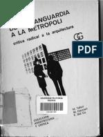 "Manfredo Tafuri, ""Para una crítica de la ideología arquitectónica"", De la Vanguardia a la Metrópoli"