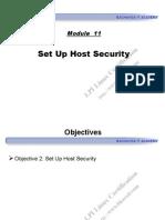 Module 11 - Set Up Host Security
