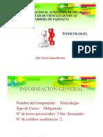 Generalidades de La Toxicologia