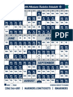 2016 Mariners Schedule