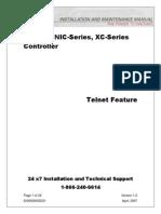 Eltek Valere - Ethernet Controller - Install Manual Telnet Feature - V1.0