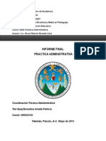 Informe Practica Administrativa Onelia Tiul