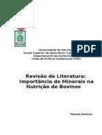 Revisão de Literatura - Importancia dos Minerais na Nutrição de Bovinos.docx