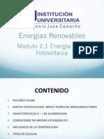 Modulo 2.1 Recurso Solar y Fundamentos