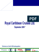 RCL Royal Caribbean Sept 2009 Presentation