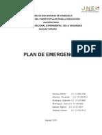 Trabajo Plan de Emergencia