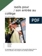 10 Conseils Pour Réussir Son Entrée Au Collège