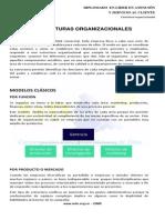 1. Estructuras organizacionales