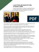 Tarcisio Bertone Per Il Bene Del Popolo Di Cuba Nuovo Dialogo Tra Chiesa e Stato