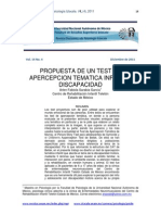 Investigacion UNAM Test Apercepcion CAT y SYMONDS