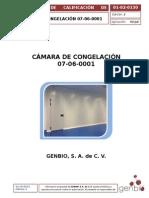 01-02-0130 Protocolo de Calificación de Instalación Cámara de Congelación Ed 2