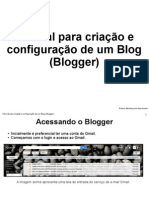 Tutorial - Blogger - Blog