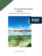 Ante Propuesta de Conservacion Marina - Mesa Del Mar - Sept 2015