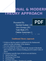 Traditional & Modern Theory Approach