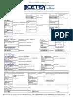 Impresión Del Formulario de Solicitud de Crédito