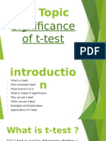 Significane of T-test