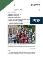 La Jornada- Migrantes Atónitos Al Ser Recibidos Con Ropa y Comida Por Voluntarios