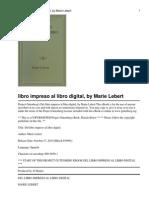 Del Libro Impreso Al Libro digital