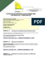 Cotizacion Pagina Web Aqpsoluciones
