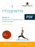 Beginner Progressing to Intermediate Program