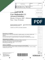 January 2005 QP - C1 Edexcel