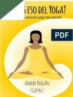 Que es eso del Yoga