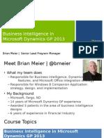 47078 Microsoft Dynamics GP Business Intelligence Mod1