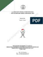 Soal Dan Pembahasan Olimpiade Fisika Sma Tingkat Provinsi (Osp) Tahun 2014