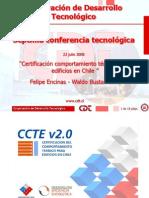 Certificación Comportamiento Térmico Para Edificios en Chile