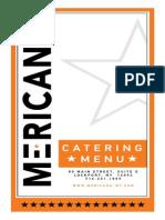 Mericana Catering menu