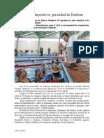 24.11.2013 Comunicado Espacios Deportivos, Prioridad de Esteban