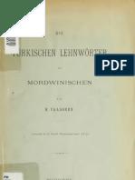 Paasonen, Heikki, 1865-1919 Die türkischen Lehnwörter im Mordwinischen (1897)