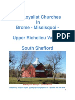 Loyalist Churches in Brome Missiquoi