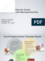 Natural Materials for Dural Replacement and Neuroprotection